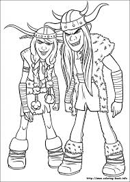 How To Train Your Dragon Coloring Pages On Book With