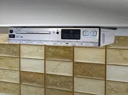 Ilive Under Cabinet Radio Walmart by Under Counter Radio With Cd Player Am Fm Light U0026 Clock