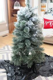 Snow Flocking For Christmas Trees by How To Flock A Christmas Tree And Other Greenery Clean And