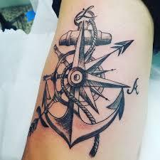 Anchor Compass Tattoo Sagitarious Symbol