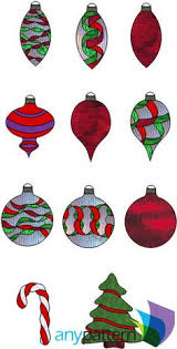 Stain Glass Christmas Scroll Stained Ornament