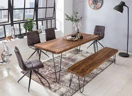 wohnling massivholz sheesham sitzbank bagli 160 x 40 x 45 cm esszimmerbank küchenbank