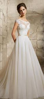 Lace Sweetheart And Bateau Neckline Wedding Dress