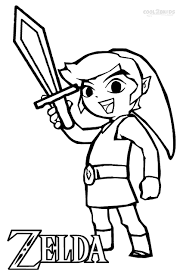 Printable Zelda Coloring Pages For Kids Video Game