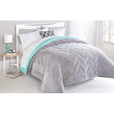 Walmart Chevron Bedding by Mainstays Two Toned Chevron Stitched Reversible Plush Bedding