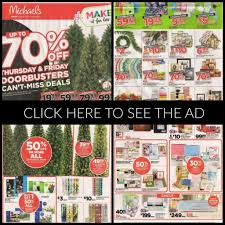 Michaels Pre Lit Christmas Trees by Michaels Black Friday Ad 2017 Store Hours Ad Preview Best Deals