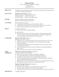 Volunteer Position Resume Objective Babysitter Lifeguard Example