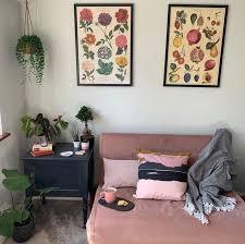 haru small sofa bed vintage pink velvet kleines sofa