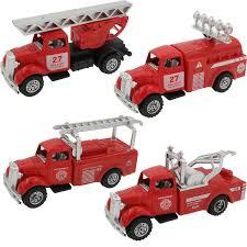 100 Metal Fire Truck Toy Amazoncom 4 Cars In 1 Set Die Playset Vehicle Models