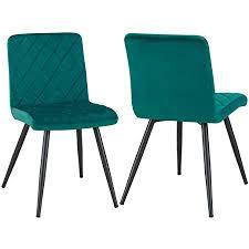 2er set esszimmerstuhl aus stoff samt polsterstuhl retro
