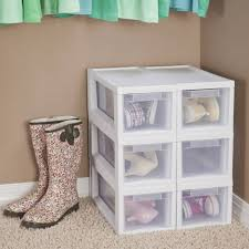 Sterilite 4 Drawer Cabinet 2 Pack by Sterilite Narrow Modular Storage Drawers Walmart Com