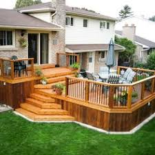 House Deck Plans Ideas by Deck Designs For Bi Level Homes Search Deck Ideas