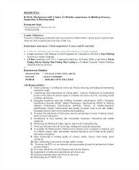 Welding Resume Objective Welders Editable Template Welder Examples