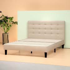 Upholstered Button Tufted Platform Bed Frame