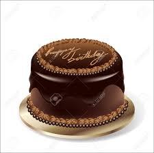 Birthday party chocolate cake Stock Vector