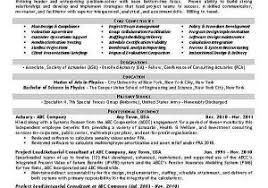 Results Oriented Resume From Actuarial Example Sampleresume Freeresume