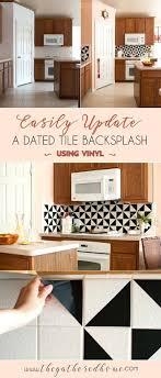 using vinyl tile for backsplash best vinyl ideas on easy black and