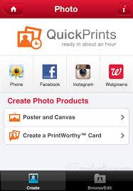 Walgreens QuickPrints shop