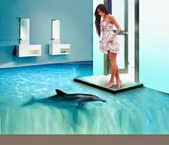 awesome 3d flooring and 3d bathroom floor murals home design