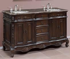 Double Sink Vanity Top 60 by Antique Teak Wooden 60 Inch Double Sink Vanity Added Double Bowl