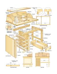 building a wood computer desk woodworking layout plans white