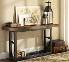 griffin reclaimed wood console table pottery barn estilo