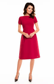 robe bureau bordeaux sleeves flared dress awa140bo idresstocode