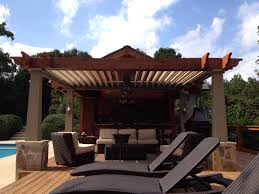 Louvered Patio Covers California by Austin Pergolas Arcadia Louvered Roof Shade Outdoor Living