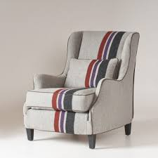 Stephenson Chair Slipcover | College Stripe Wool ...
