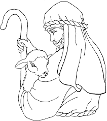The Good Shepherd Coloring Page