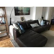 Bed Frame Macys by Macy U0027s Milano Brown Leather Sectional Sofa Aptdeco