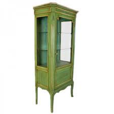 casa padrino barock vitrine antik stil grün gold 160 cm vitrinenschrank wohnzimmer schrank antik stil möbel