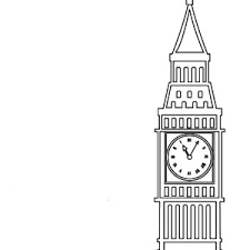 Londons Proud Big Ben Coloring Page