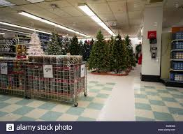 Kmart Small Artificial Christmas Trees by Seasonal Christmas Display In A Kmart Store In New York Stock