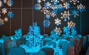 Swag Events Winter Wedding Reception 5 Glitter Trees