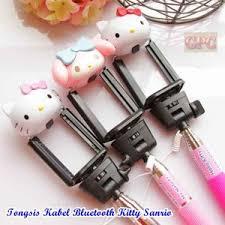 tongsis kabel bluetooth hello kitty sanrio toko grosir product