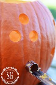 Pumpkin Carving Drill Holes by No Drill Holey Pumpkin Diy Stonegable