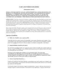 Carta De Poder Duradero