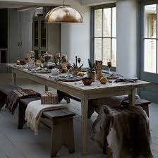 Country Dining Room Ideas Uk by Gold And Bronze Christmas Dining Room With Statement Lamp