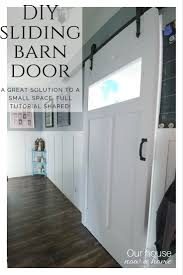 DIY Sliding Barn Door • Our House Now A Home Craftsman Style Barn Door Kit Jeff Lewis Design Diy With Burned Wood Finish Perfect For Large Openings Sliding Designs Untainmodernlifecom Interior Simple For Modern House Wayne Home Decor Sliding Barn Door Our Now A Installing Doors At How To Build A To Install Network Blog Made Remade Double Tutorial H20bungalow Christinas Adventures Pallet 5 Steps 20 Fabulous Ideas Little Of Four