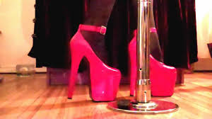 red 8 inch high heel stripper shoes youtube