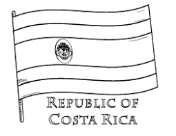 Costa Rica Flag Coloring Page