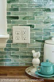 Primitive Kitchen Backsplash Ideas by Primitive U0026 Proper Diy Recycled Glass Backsplash With The Tile