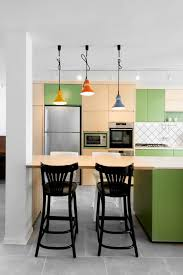 KitchenCharming Fresh Lime Green Kitchen Ideas With Round White Dining Table Over Cone Hanging