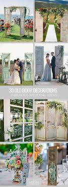 Using Old Doors For Wedding Entrance