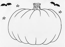 Pumpkin With Bats Coloring Pages
