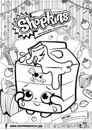 Shopkins Spilt Milk Coloring Pages