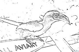 Caricature Doiseau Toucan Vecteur De Livre à Colorier Image