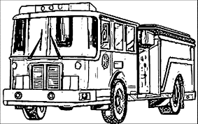 Easy Fire Truck Coloring Pages With Engine Drawing At GetDrawings ...