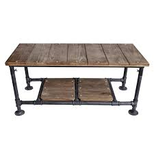 Armen Living Kyle Industrial Grey Coffee TableLCKYCOSBPI The Home